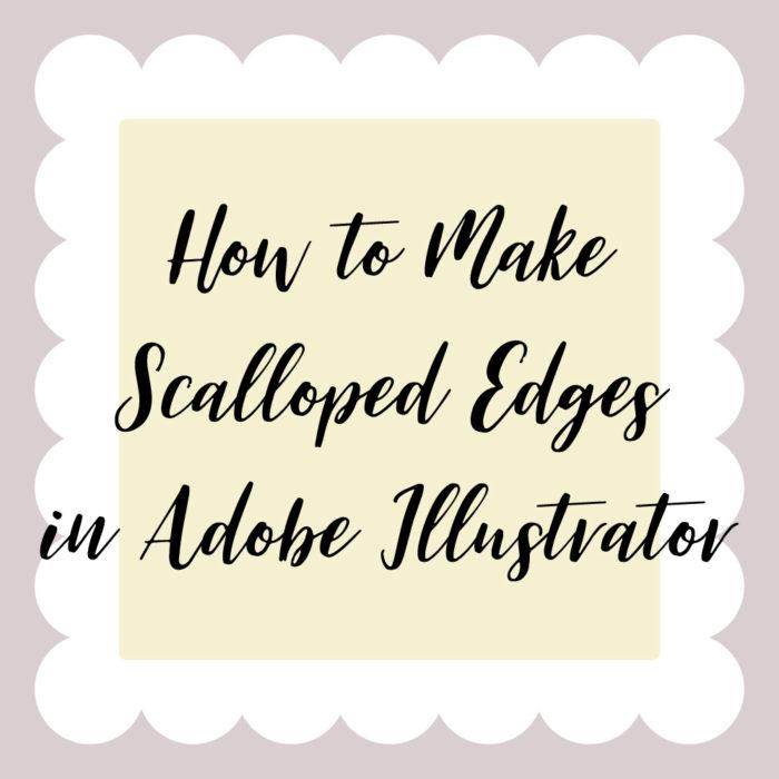 How to Make Scalloped Edges in Adobe Illustrator