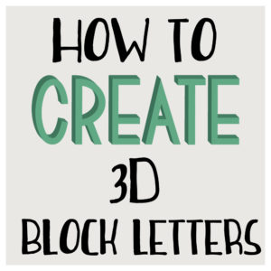 how to create 3d block letters in illustrator