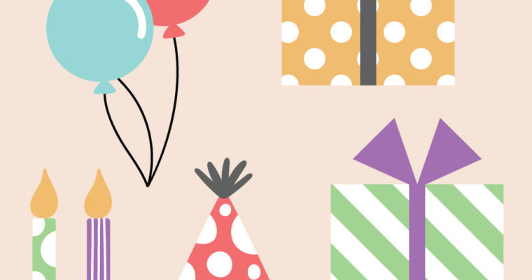 Free Vector Graphics: Birthday Supplies