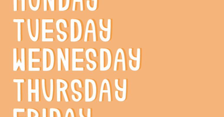 Free Vector Graphics: Days of the Week