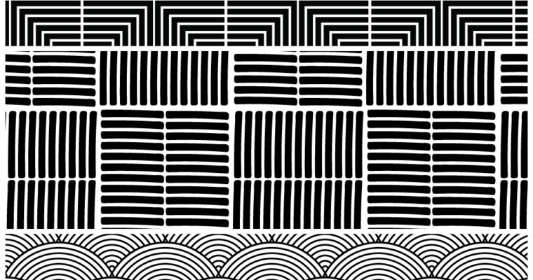 Free Vector Patterns: Basic Monochrome Patterns